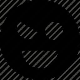 evil, face, smile icon