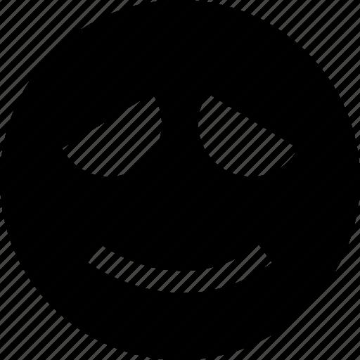 Face, sad, smile icon