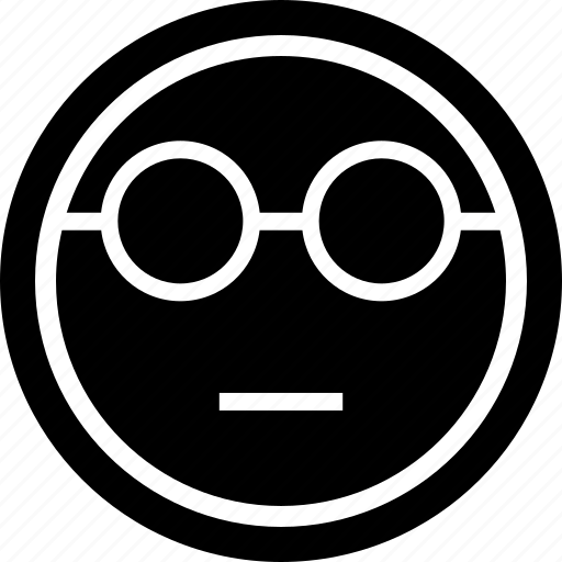 emoji, emotion, glasses icon
