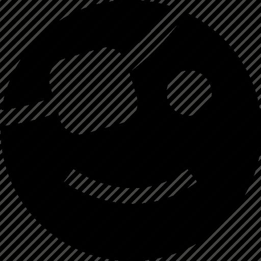 face, happy, pirate icon