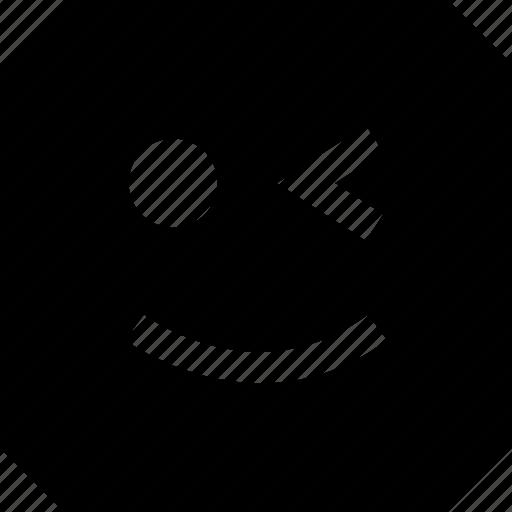 expression, happy, wink icon