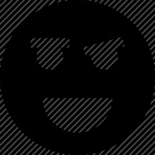 face, high, smile icon