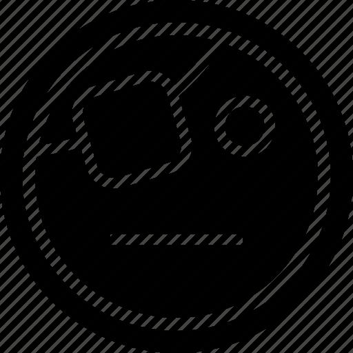 emoji, emotion, line, pirate icon