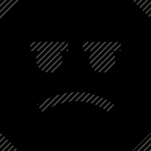 expression, face, sad icon