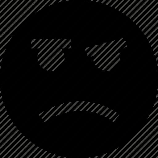 emotion, face, sad, smile icon