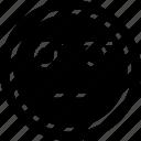 emoji, sad, stared icon