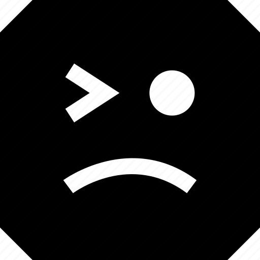 expression, sad, wink icon