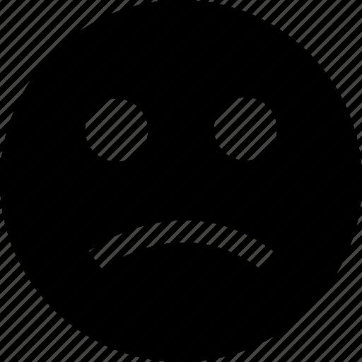 face, sad, sadness icon