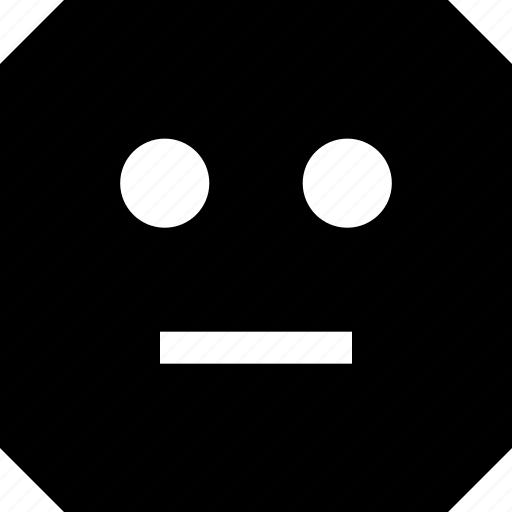 emoji, face, serious icon