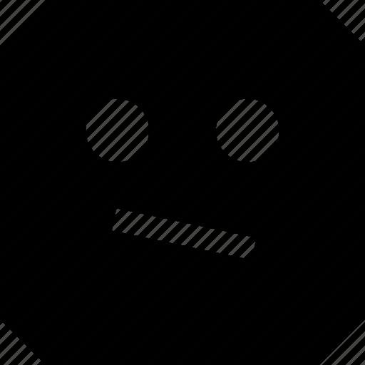 face, sad, serious icon