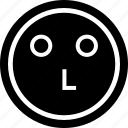 emoji, line, think icon