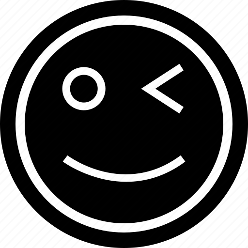 emotion, face, wink icon
