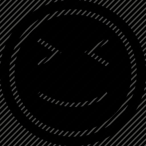 face, happy, winking icon