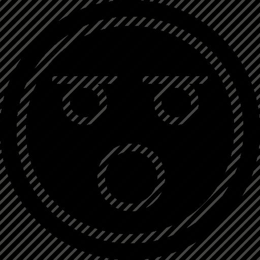 emoji, shocked, wow icon