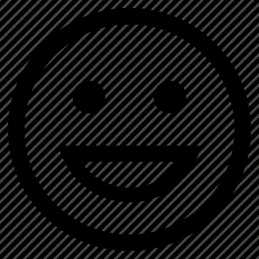 emoji, emoticon, emotion, expression, face, feeling, laughing face icon