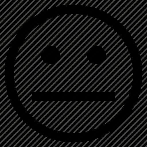 emoji, emoticon, emotion, expression, face, feeling, straight face icon