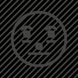 emoji, emoticon, emotion, line, outline icon