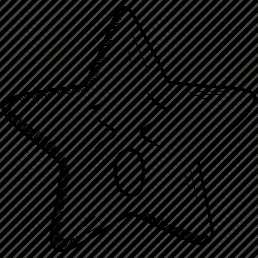 confused, emoji, smiley, star, upset, worried icon