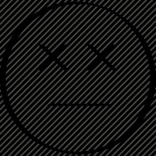 dead, emoji, emotion, expression icon