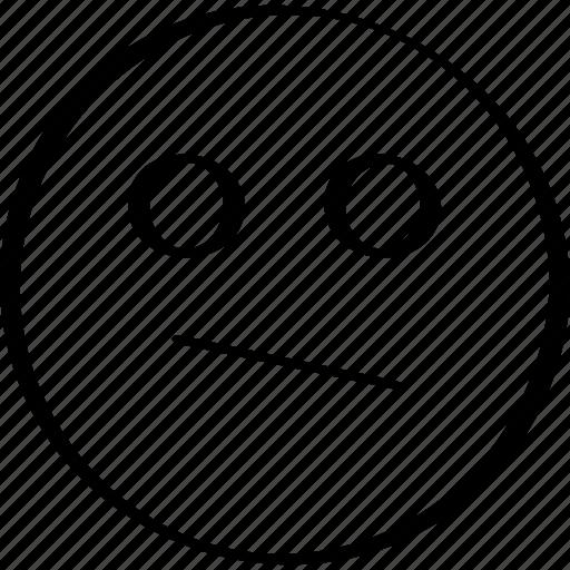 emoji, emotion, expression, looking, staring icon