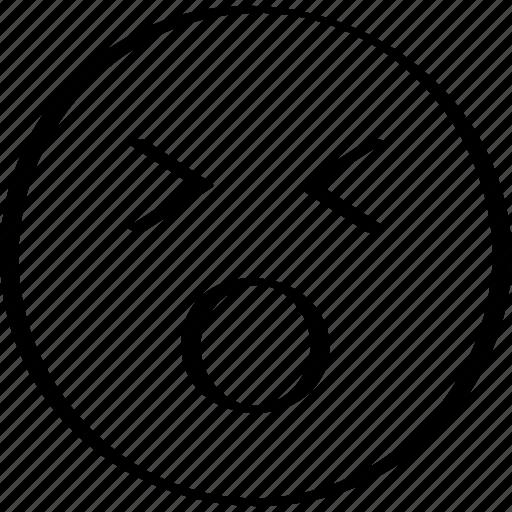 emoji, expression, face, shocking icon