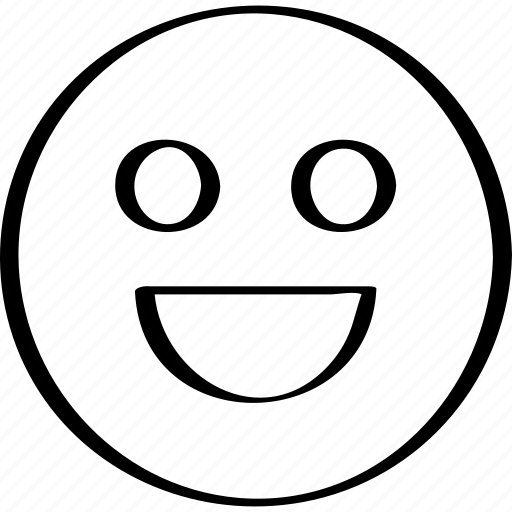 big, emoji, emotion, expression, smile icon