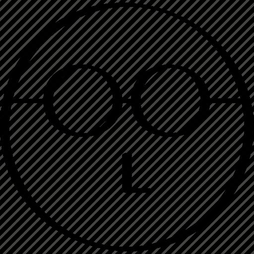 emoji, expression, face, thinker icon