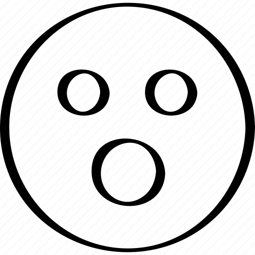 emoji, emotion, expression, wow icon
