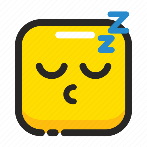 dream, emoji, expression, face, night, sleep, square icon