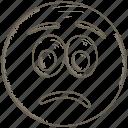 emoji, emoticon, happy, smiley, surprised