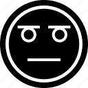 emoji, emotion, face, sad, stared icon
