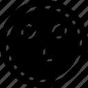 emoji, emotion, face, line, think icon