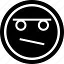 emoji, emotion, face, thinker icon