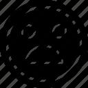 emoji, emotion, face, wow icon