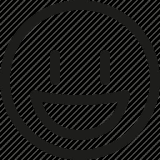 contented, emoji, emoticon, happy, scalable, smile, smiley icon