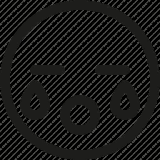Cry, crying, emoji, emoticon, sad, scalable, tear icon - Download on Iconfinder