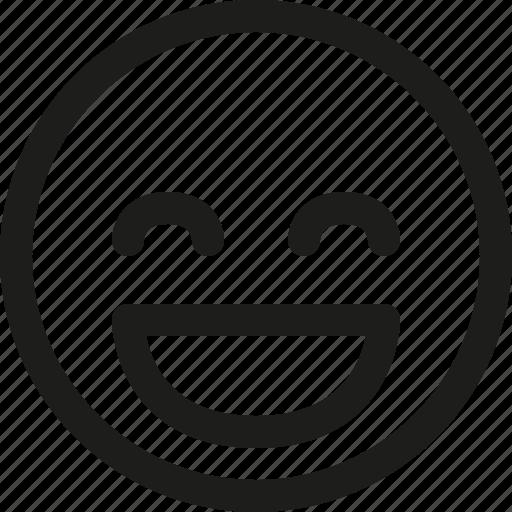 avatar, emoji, emoticon, glad, happy, scalable, smiley icon