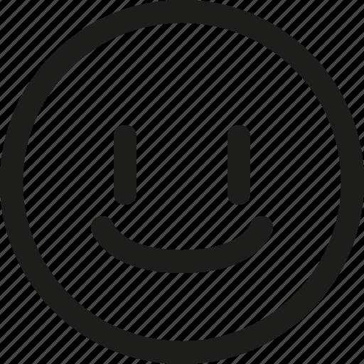 Emoji, emoticon, glad, happy, satisfied, scalable, smiley icon - Download on Iconfinder