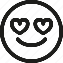 emoji, emoticon, heart, love, scalable, smiley, valentines icon