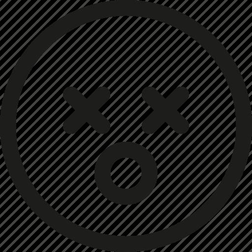 Cross, death, emoji, emoticon, lifeless, scalable, smiley icon - Download on Iconfinder