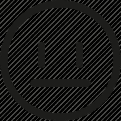 avatar, emoji, emoticon, face, neutral, scalable, smiley icon