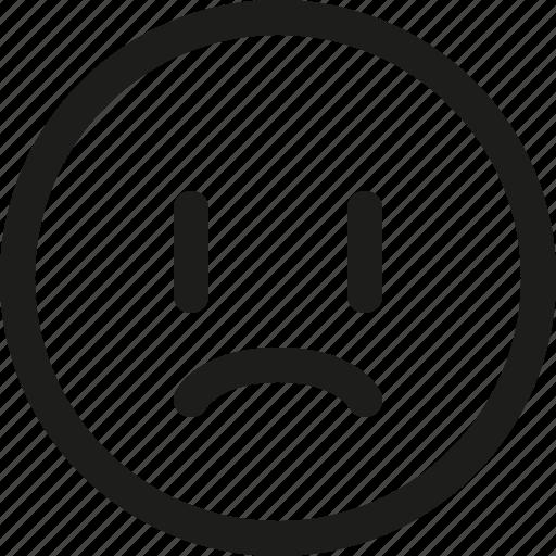 Emoji, emoticon, sad, scalable, unhappy, upset, smiley icon - Download on Iconfinder