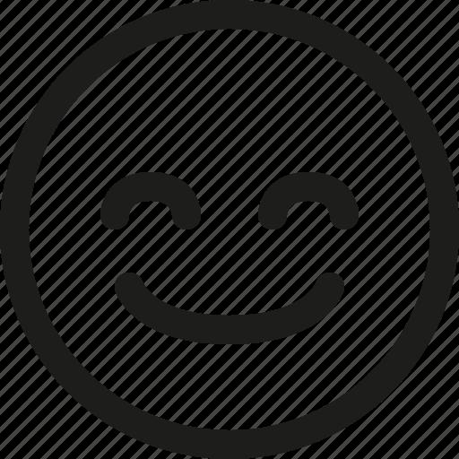 Emoji, emoticon, glad, happy, satisfied, scalable, avatar icon - Download on Iconfinder