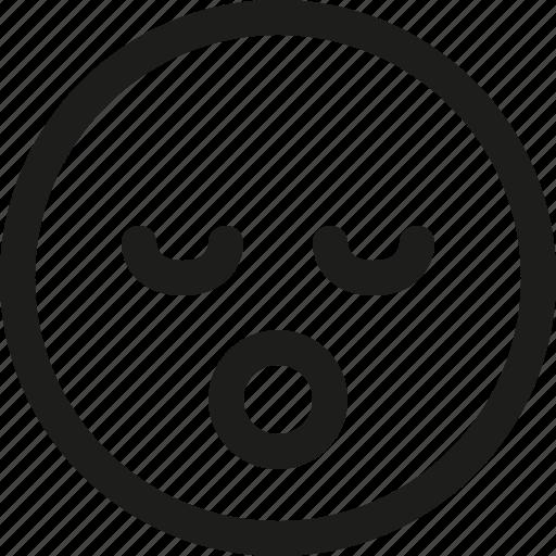 asleep, avatar, emoji, emoticon, scalable, sleep, smiley icon