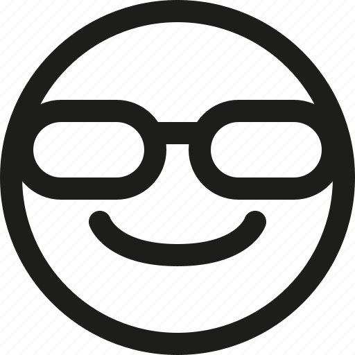 avatar, emoji, emoticon, scalable, smiley, sunglasses icon