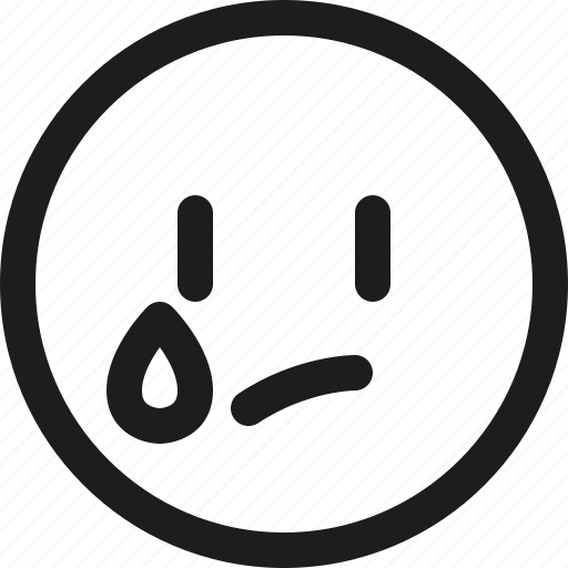 Emoji, emoticon, scalable, tear, avatar, face, smiley icon - Download on Iconfinder