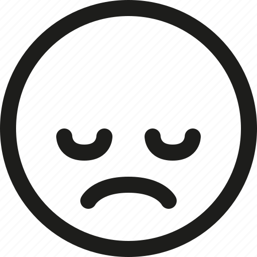 Emoji, emoticon, sad, scalable, upset, avatar, smiley icon - Download on Iconfinder
