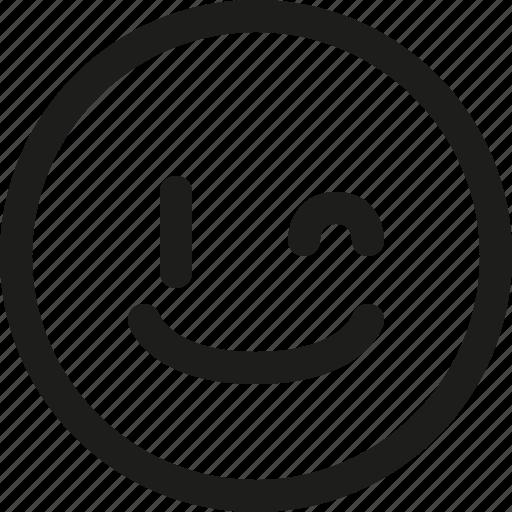 Emoji, emoticon, guiño, happy, wink, expression, smiley icon - Download on Iconfinder