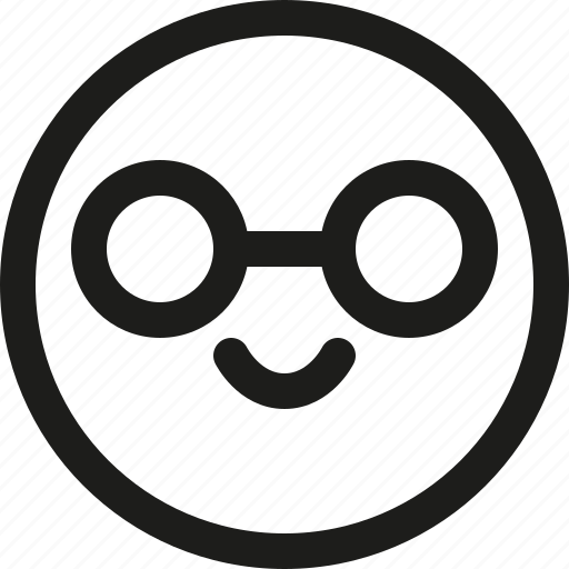 Emoticon, intelligent, nerd, scalable, smart, avatar, smiley icon - Download on Iconfinder