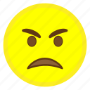 angry, dead, emoji, enemy, face, hovytech, unhappy icon